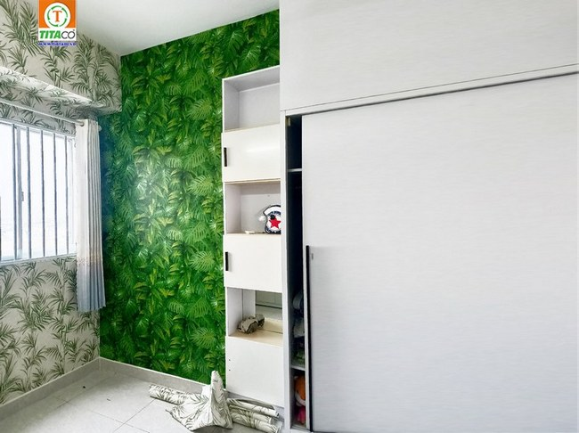 thi công dán giấy dán tường phòng ngủ đẹp tphcm 2546-14