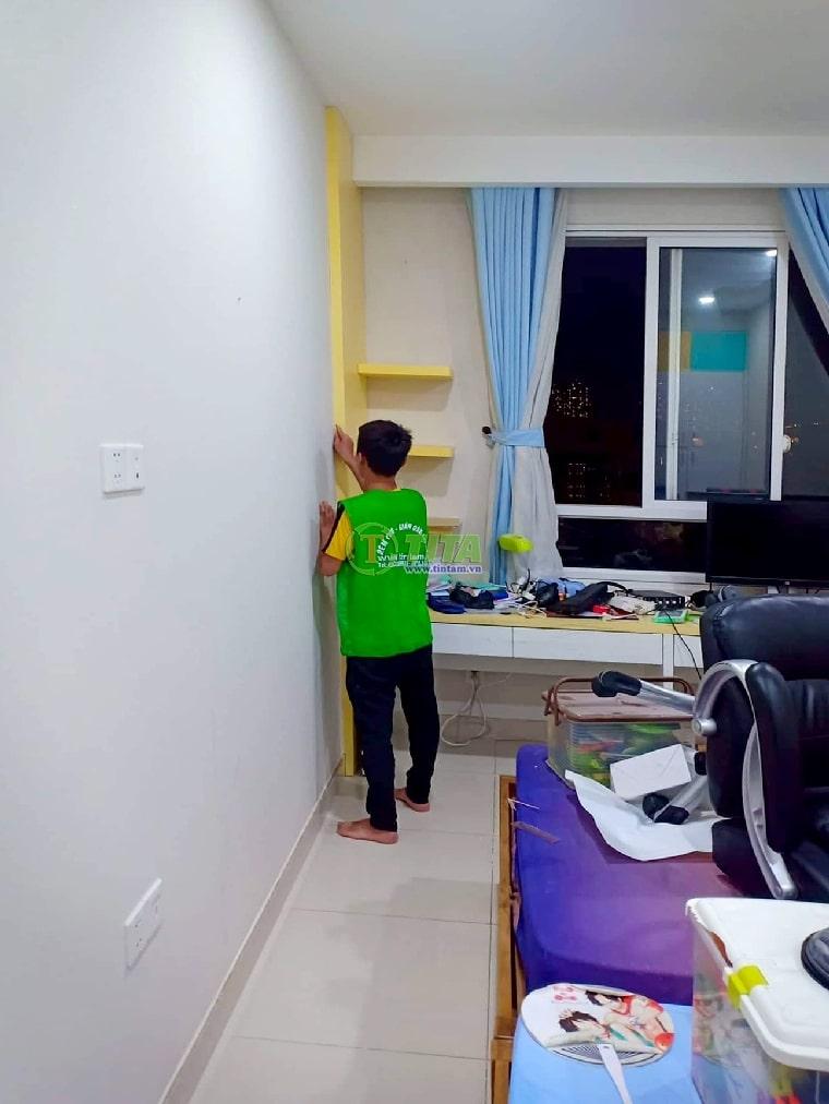 Thi công giấy dán tường 3d tại tphcm