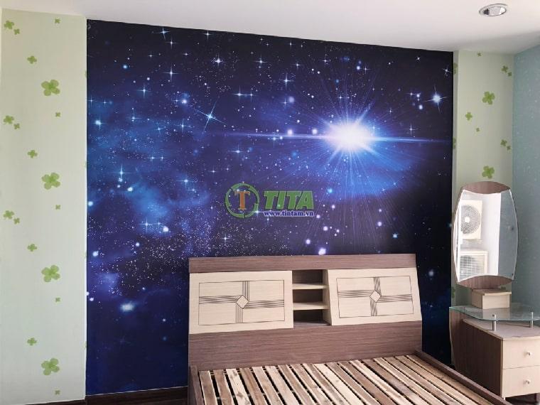 Tranh dán tường trẻ em kid hình vũ trụ dành cho phòng bé