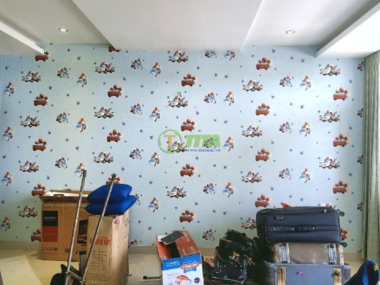 dán giấy dán tường phòng ngủ cho bé trẻ em 6214-5