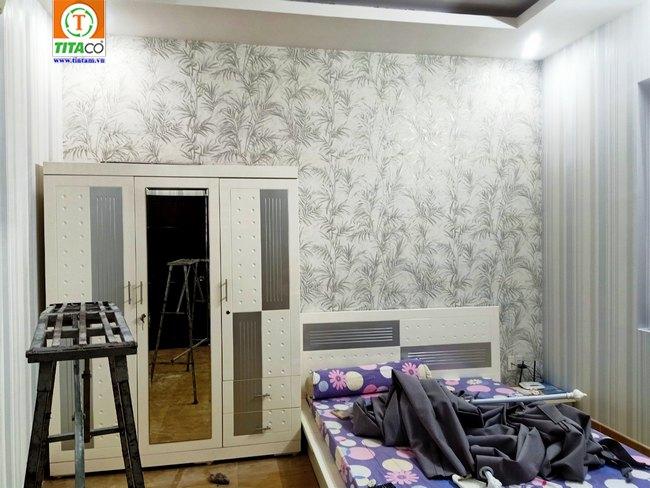 thi công dán giấy dán tường phòng ngủ đẹp tphcm 26154-1