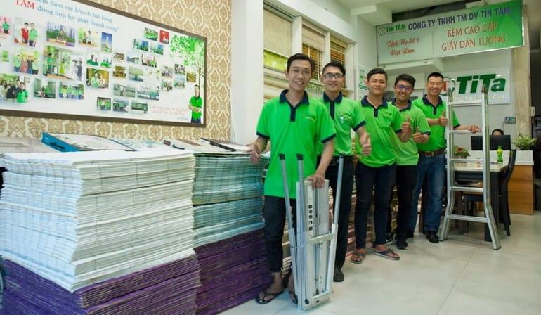 công ty thi công giấy dán tường quán cafe 54446