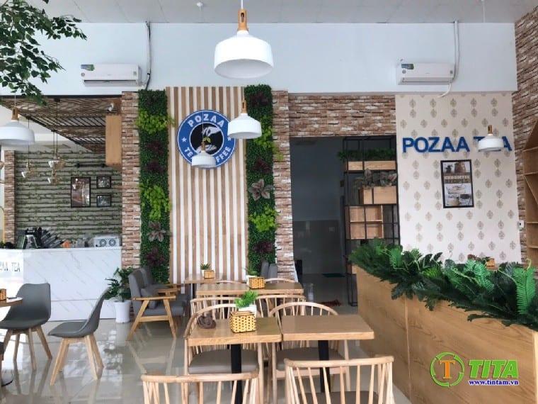trang trí giấy dán tường cho quán cafe là xu hướng hiện đại và được ưu chuộng nhiều hiện nay
