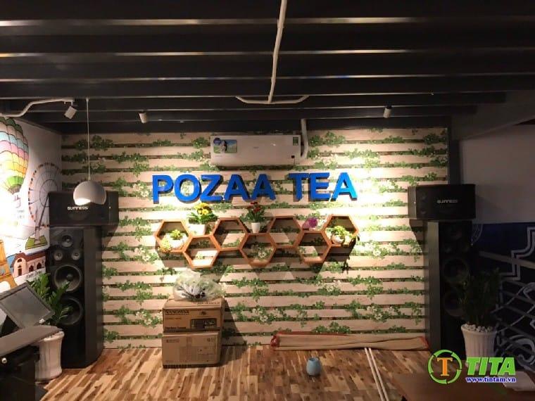 giấy dán tường quán cafe mẫu gỗ cực đẹp