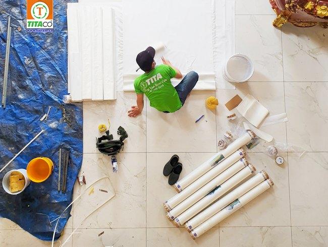thi công giấy dán tường tranh dán tường hàn quốc