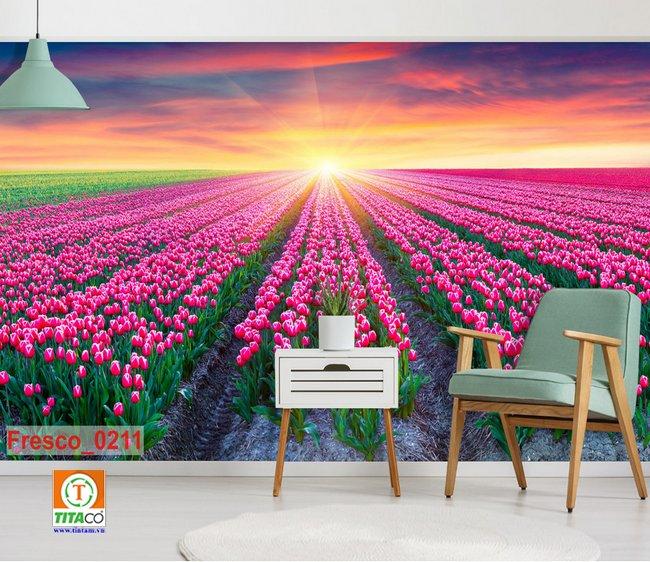 tranh dán tường 3d phong cảnh T2145-4