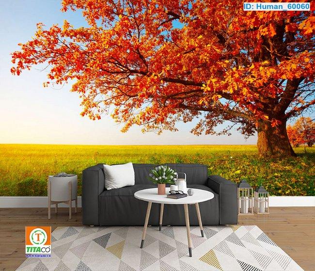 tranh dán tường 3d phong cảnh T2154-2
