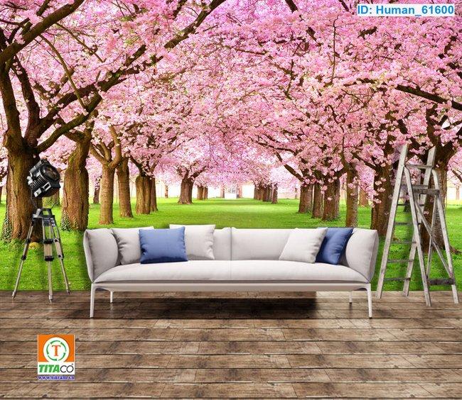 tranh dán tường 3d phong cảnh T2548-1
