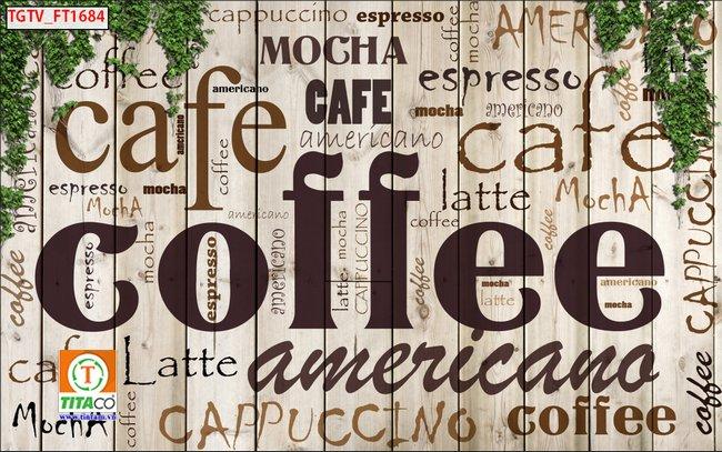 tranh dán tường 3d quán cafe cà phê tphcm T6125-5