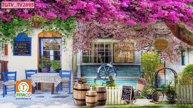 tranh dán tường 3d quán cafe cà phê tphcm T61520-5