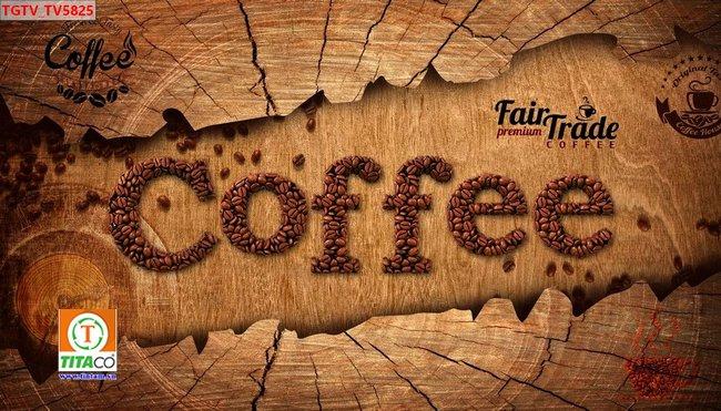 tranh dán tường 3d quán cafe cà phê tphcm T6541-5
