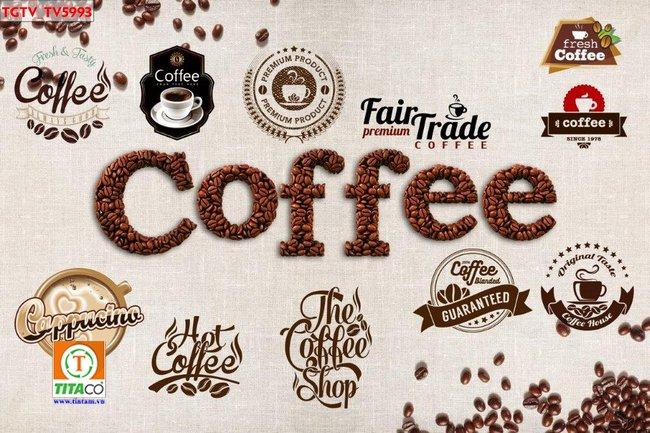 tranh dán tường 3d quán cafe cà phê tphcm T6365-5
