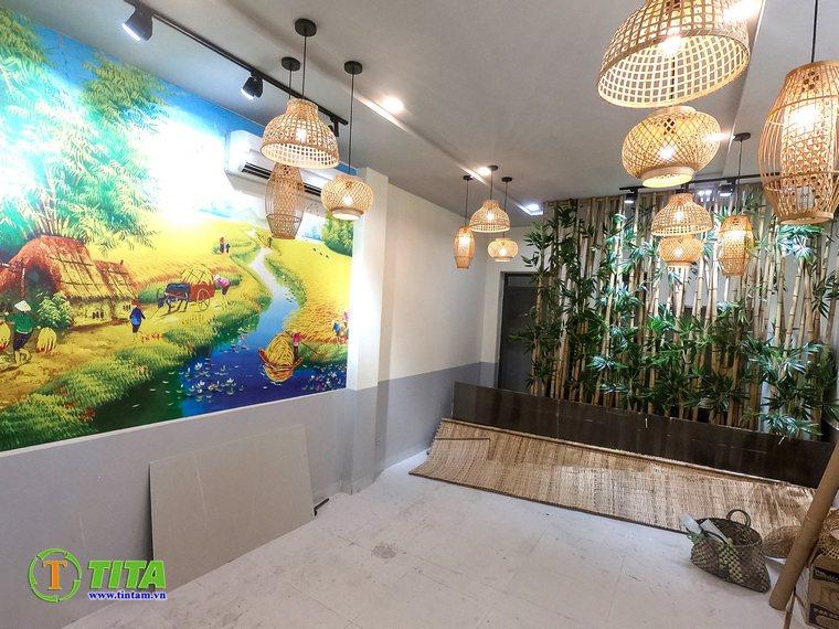 tranh dán tường 3d quán cafe cà phê tphcm T6245-5